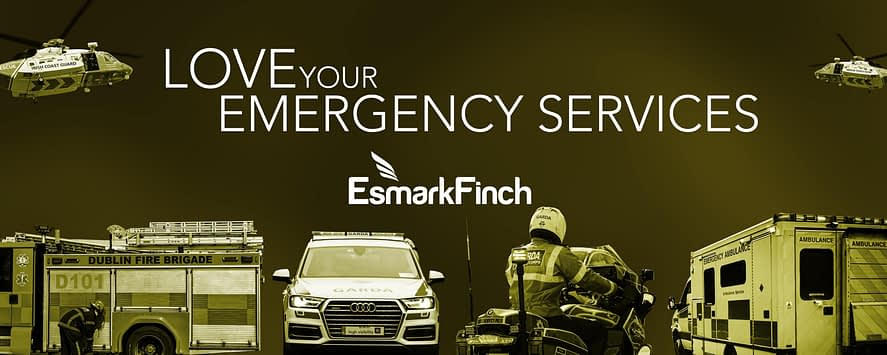 An group of Specialist Emergency Services Vehicles