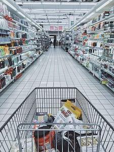 food packaging in supermarket