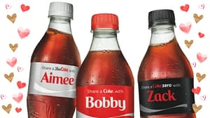 Digital printing allows for personalised labels for Coca Cola