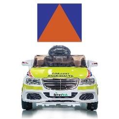 A Mini Civil Defence Ride-On-Car