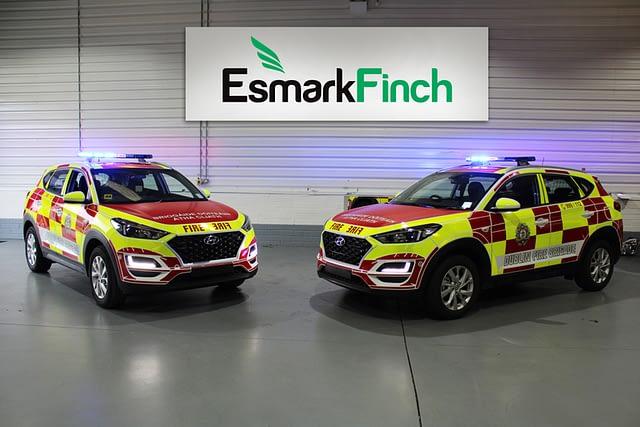 Esmark Finch transform hyundai tucsons fro Dublin Fire Brigade